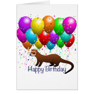Happy Birthday Ferret Card