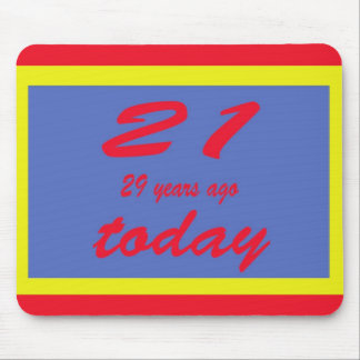 Happy birthday fifty 50th mousepads