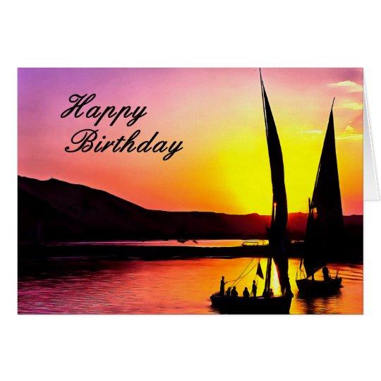 Happy Birthday Fine Art Sailing Card