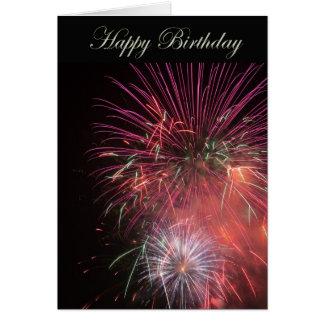 Happy Birthday Fireworks Greeting Card