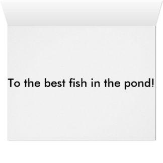 Happy Birthday Fish Big Greeting Card