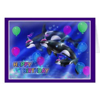 Happy Birthday Fish style 012 Card