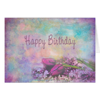 Happy Birthday - Floral Elegance Card