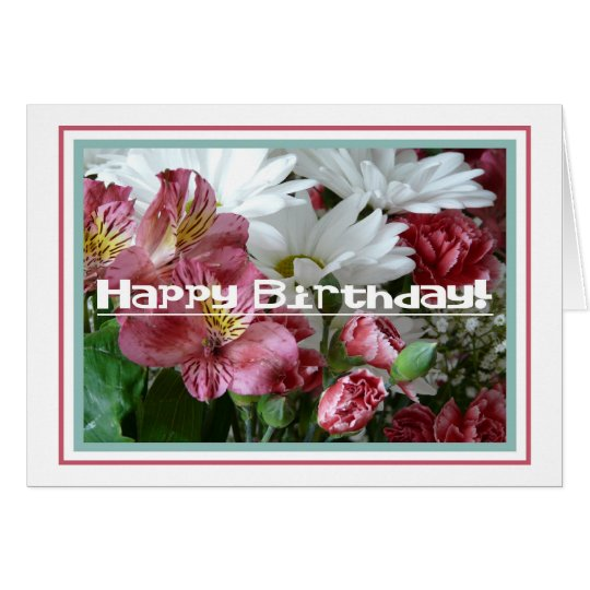 Happy Birthday-Floral Greeting Card