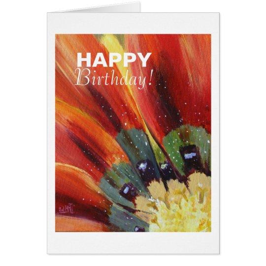 Happy Birthday Floral Postcard