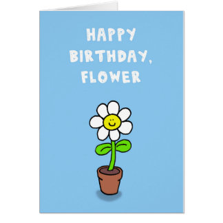 Happy Birthday, Flower Card