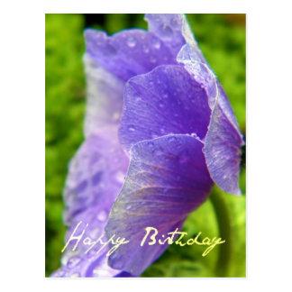 Happy Birthday Flower Postcard