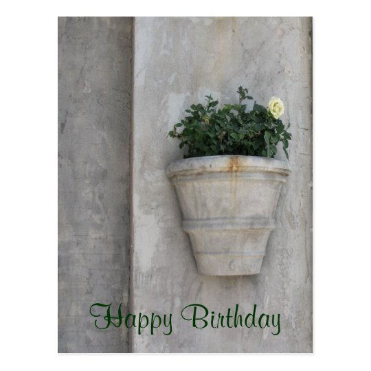 Happy Birthday flower Postcard