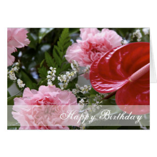 Happy Birthday Flowers Bouquet Card