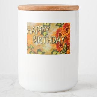 Happy Birthday Food Container Label
