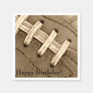 Happy Birthday Football Laces Paper Napkins