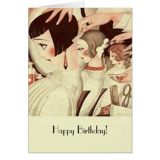Happy Birthday for a Hair Stylist Greeting Card