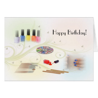 Happy Birthday for a Manicurist Greeting Card