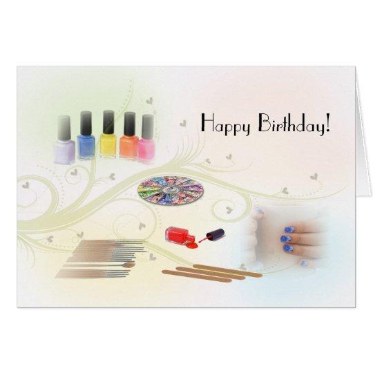 Happy Birthday for a Manicurist Card