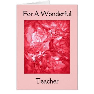 Happy Birthday - For A Teacher Card