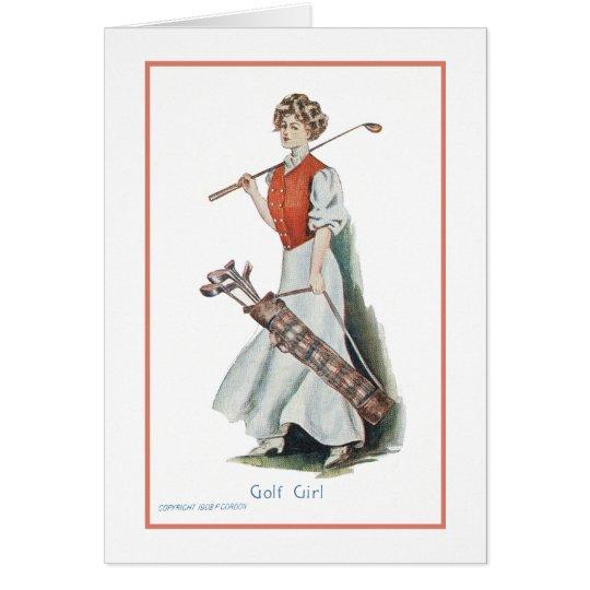 Happy Birthday for a Woman Golfer Card