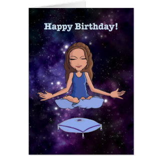 """Happy Birthday (for an """"en-lightened"""" woman) Card"""