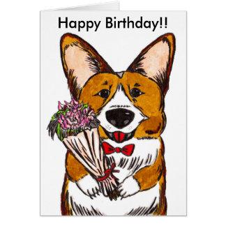 Happy Birthday for Corgi Lovers Card