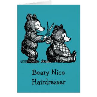 Happy Birthday for Hairdresser Card