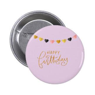 Happy Birthday for Her 6 Cm Round Badge