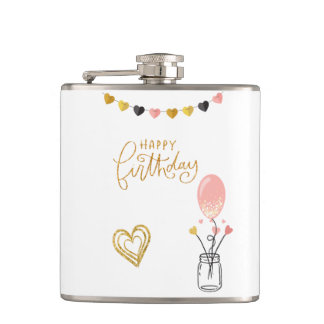 Happy Birthday for Her Flask