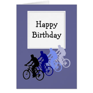 Happy Birthday for Over the Hill  Bike, Cycle Fans Greeting Card