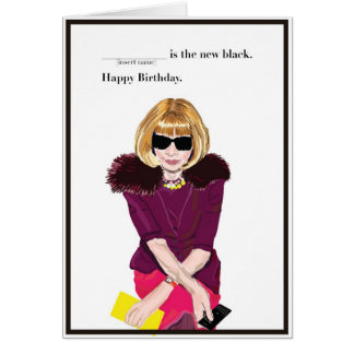 Happy Birthday for the Fashionista Greeting Card