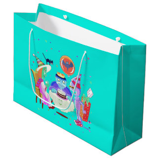 Happy Birthday Frankie (color) large gift bag