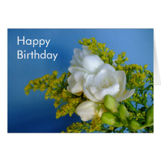 Happy Birthday - Freesia Card