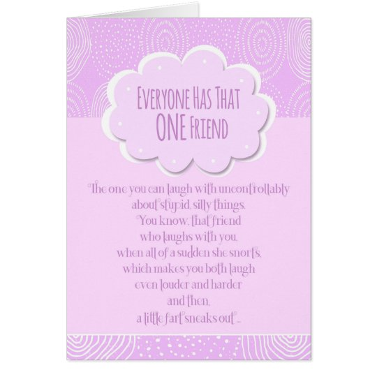 Happy Birthday Friend Funny Fart Card