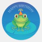 Happy Birthday Frog Sticker