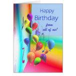 Happy Birthday from all - Balloon Wall
