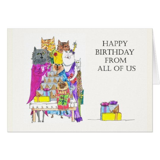 Happy Birthday From All of Us, Cat Characters