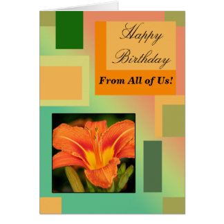 Happy Birthday From All of Us, Pastels Card