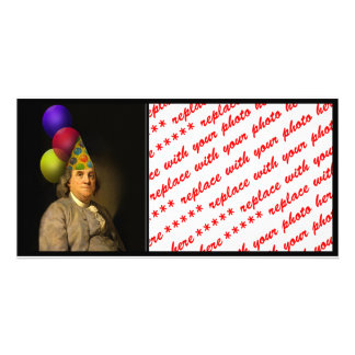 Happy Birthday  From Ben Franklin Customised Photo Card