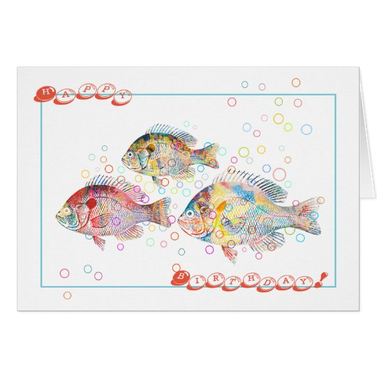 Happy Birthday (from Colourful Carps) Card