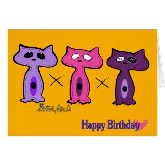 Happy Birthday from Felid friends Greeting Card