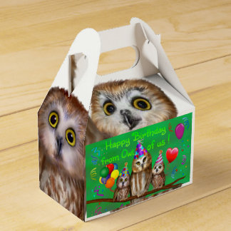 Happy Birthday from Owl of us! Favour Box