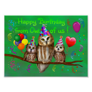 Happy Birthday from Owl of us! Poster