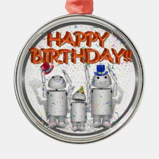 Happy Birthday from Robo-x9 & Family Christmas Tree Ornament