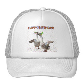 Happy Birthday from the Birthday Geese! Hats