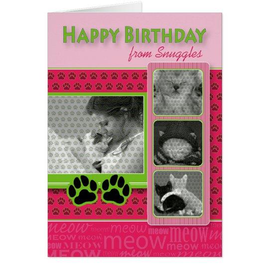Happy Birthday From the Cat Birthday Card