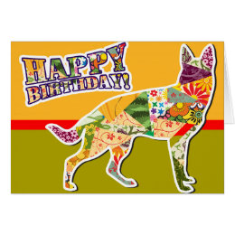 Happy birthday from the dog cards invitations zazzle happy birthday from the german shepherd dog card stopboris Images