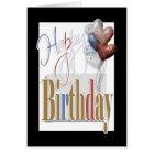 """Happy birthday"" fun diamond balloons unisex Card"