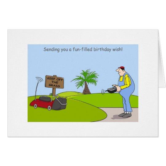 Happy Birthday Gardening Cards, funny gardener Card