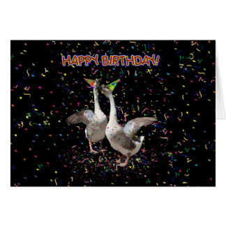 Happy Birthday Geese Card