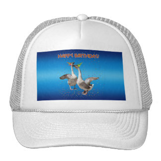 Happy Birthday Geese Mesh Hats