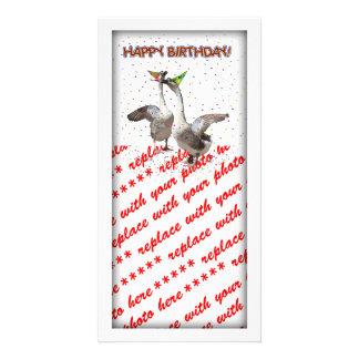 Happy Birthday Geese Custom Photo Card