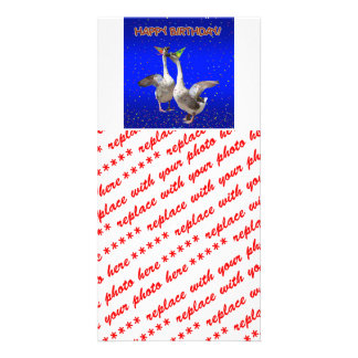 Happy Birthday Geese Photo Card Template