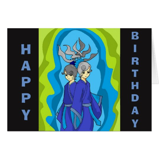 Happy Birthday Gemini Card